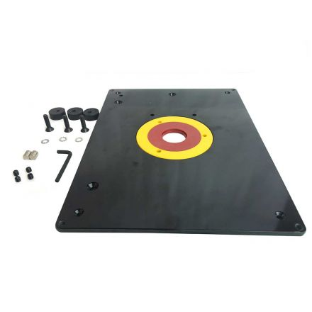 Big Horn 18101 9-Inch x 12-Inch Router Table Insert Plate w/ Guide Pin & Snap Rings