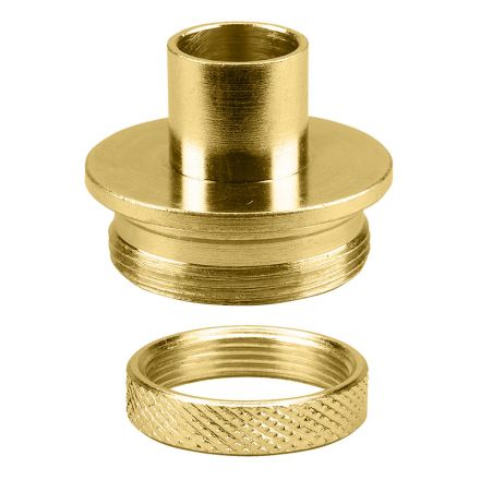 Big Horn 19668 Brass Router Template Guide I.D. 17/32 Inch O.D. 5/8 Inch with Lock Nut - Door Template Kit Replaces Porter Cable 42045, 42237 & Templaco TG-1