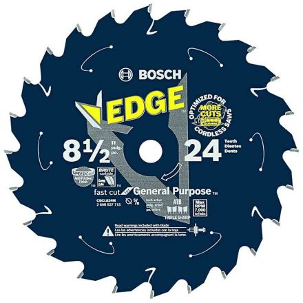 Bosch CBCL824M 8-1/2 In. 24 Tooth Edge Cordless Circular Saw Blade