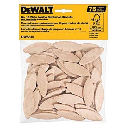 Dewalt DW6810 No. 10 Size Joining Biscuits (75 Count)