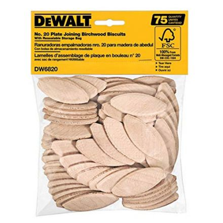 Dewalt DW6820 No. 20 Size Joining Biscuits (75 Count)