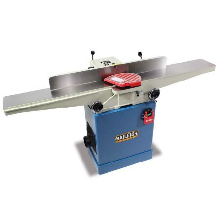 Baileigh IJ-666-HH 110/220V (Prewired 110v) 1.hp 6 Inch Long Bed Jointer, 66 Inch Table, 5000 rpm w/ Helical Insert Cutter Head