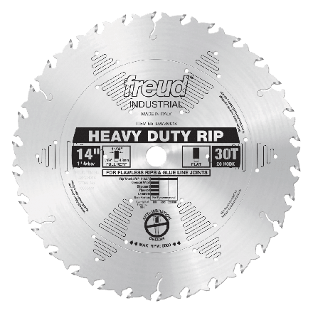 Freud LM72M014 14 Inch 30 Tooth FTG Ripping Saw Blade with 1-Inch Arbor