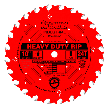 Freud LM72R010 10 Inch 24 Tooth FTG Ripping Saw Blade with 5/8-Inch Arbor and PermaShield Coating