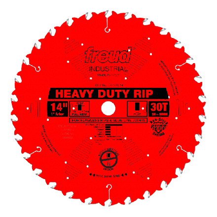 Freud LM72R014 14 Inch 30 Tooth FTG Ripping Saw Blade with 1-Inch Arbor and PermaShield Coating