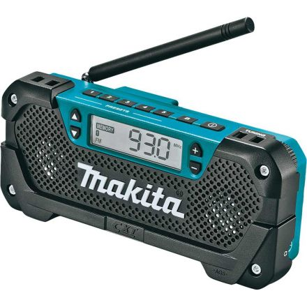 Makita RM02 12V max CXT Lithium-Ion Cordless Compact Job Site Radio (Tool Only)