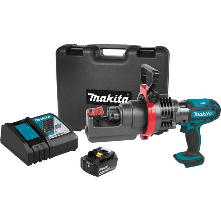 Makita XCS01T1 18V LXT Lithium-Ion Cordless Rebar Cutter Kit, with one battery