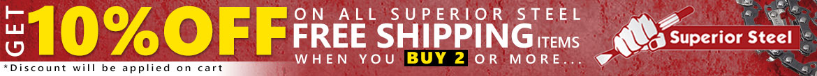 Superior Steel 10% off on Free Shipping Items