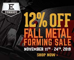 12% Off on Fall Metal Forming Sale