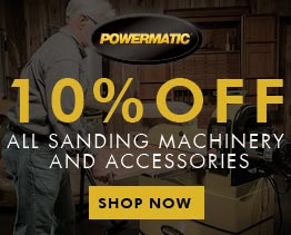 10% Off Sanding Machinery & Accessories